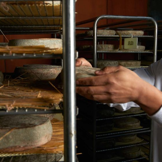 Retournement manuel des fromages